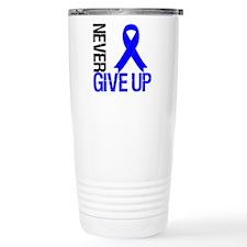 NeverGiveUp Colon Cancer Travel Mug