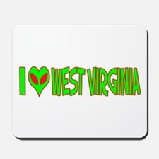 I Love-Alien West Virginia Mousepad