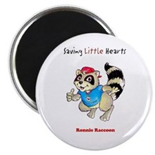 Ronnie Raccoon Circle Magnet