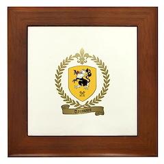 TOUSSAINT Family Crest Framed Tile