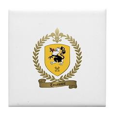 TOUSSAINT Family Crest Tile Coaster