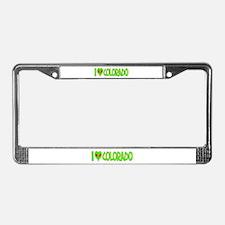 I Love-Alien Colorado License Plate Frame
