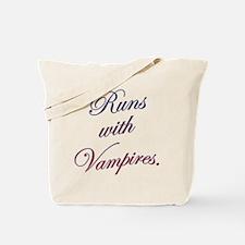 Runs with Vampires Tote Bag