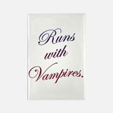 Runs with Vampires Rectangle Magnet