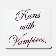 Runs with Vampires Mousepad