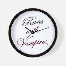 Runs with Vampires Wall Clock