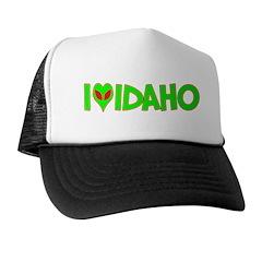 I Love-Alien Idaho Trucker Hat