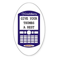CrashBerry - Thumbs Oval Decal