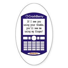 CrashBerry - Your Thumbs, My Finger Oval Decal