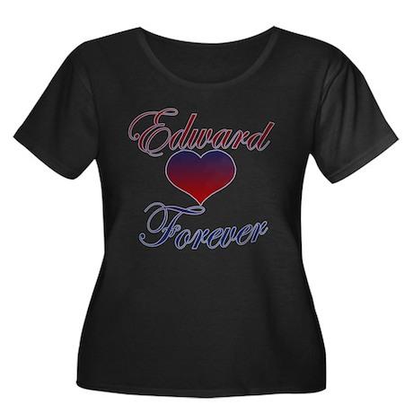 Edward Forever Women's Plus Size Scoop Neck Dark T