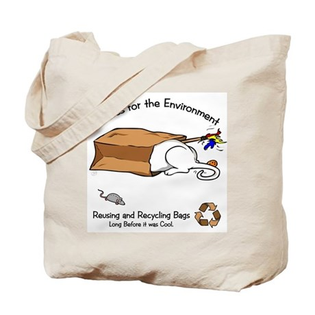 Enviro-Cat Tail End Tote Bag