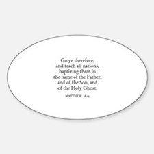 MATTHEW 28:19 Oval Decal