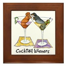 Double Cocktail Wiener Framed Tile
