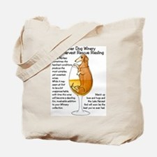 Rescue Riesling Dachshund Tote Bag