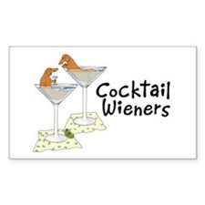 Cocktail Wieners (red) Rectangle Decal