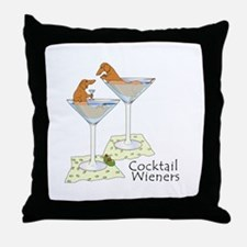 Cocktail Wieners (red) Throw Pillow