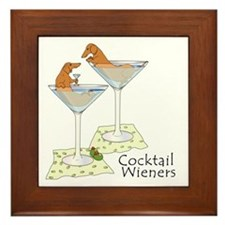 Cocktail Wieners (red) Framed Tile