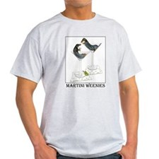 Martini Weenies Ash Grey T-Shirt