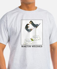 Martini Weenies Ash Grey T-Shirt
