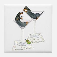Martini Weenies Tile Coaster