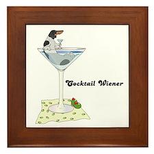 Piebald Cocktail Wiener Framed Tile