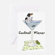 Piebald Cocktail Wiener Greeting Card