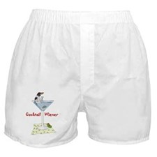 Piebald Cocktail Wiener Boxer Shorts