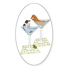 BT Piebald, Red Cocktail Wien Oval Decal