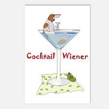 Red Piebald Cocktail Wiener Postcards (Package of