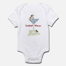 Red Piebald Cocktail Wiener Infant Bodysuit