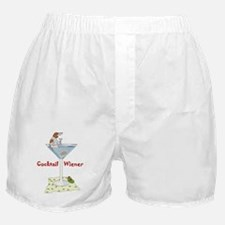 Red Piebald Cocktail Wiener Boxer Shorts