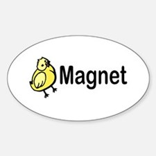 Chick Magent Oval Decal