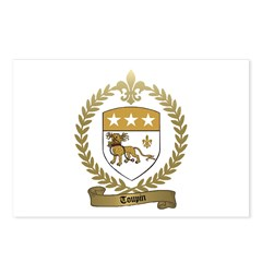 TOUPIN Family Crest Postcards (Package of 8)