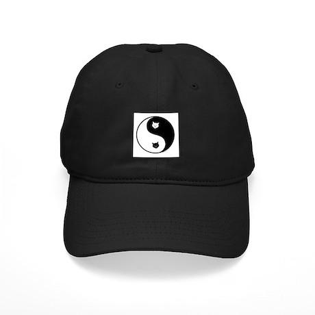 yin yang meow Black Cap