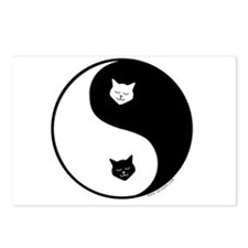 yin yang meow Postcards (Package of 8)