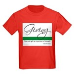 Giving - Emerson Quote Kids Dark T-Shirt