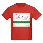 Giving - Emerson Quote Kids Dark T-Shirt