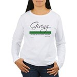 Giving - Emerson Quote Women's Long Sleeve T-Shirt