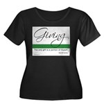 Giving - Emerson Quote Women's Plus Size Scoop Nec