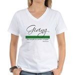 Giving - Emerson Quote Women's V-Neck T-Shirt
