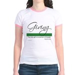Giving - Emerson Quote Jr. Ringer T-Shirt