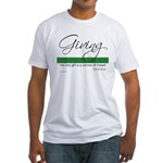 Giving - Emerson Quote Fitted T-Shirt