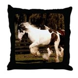 Vanner horse Throw Pillows