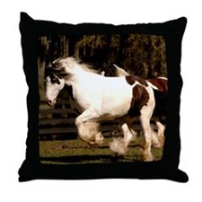 Unique Gypsy vanner horse Throw Pillow