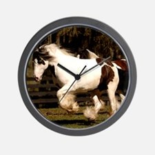 Cute Gypsy vanner horse Wall Clock