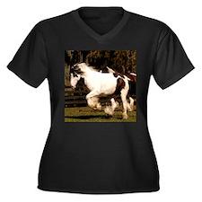 Unique Gypsy vanner Women's Plus Size V-Neck Dark T-Shirt