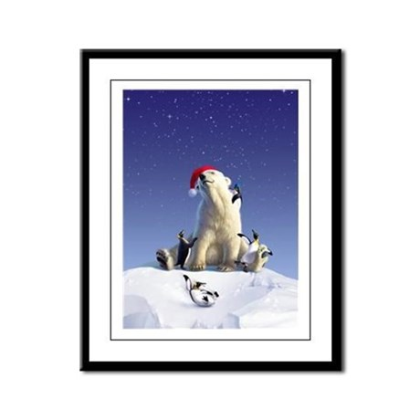 Penguin Pals 1 Framed Panel Print