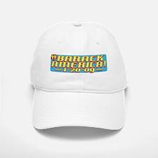 Barack America Text 09 Baseball Baseball Cap