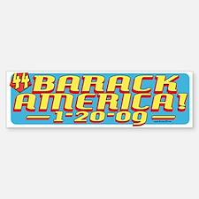 Barack America Text 09 Bumper Bumper Bumper Sticker