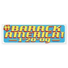 Barack America Text 09 Bumper Bumper Sticker